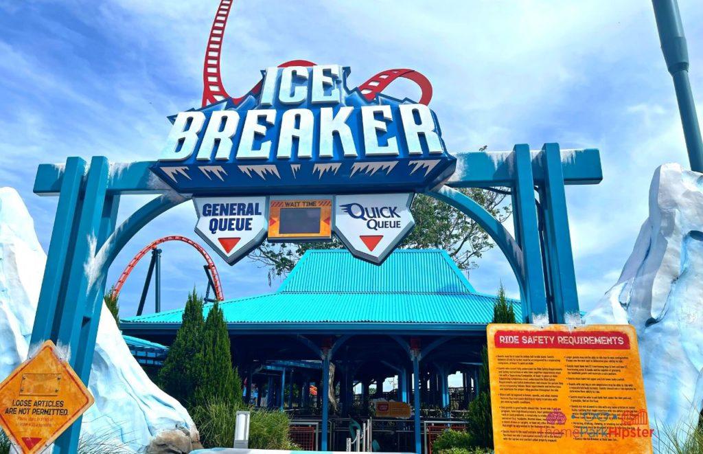Ice Breaker SeaWorld Roller Coaster Entrance