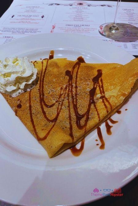 La Creperie de Paris Epcot France Pavilion Nutella Crepe with Whipped Cream