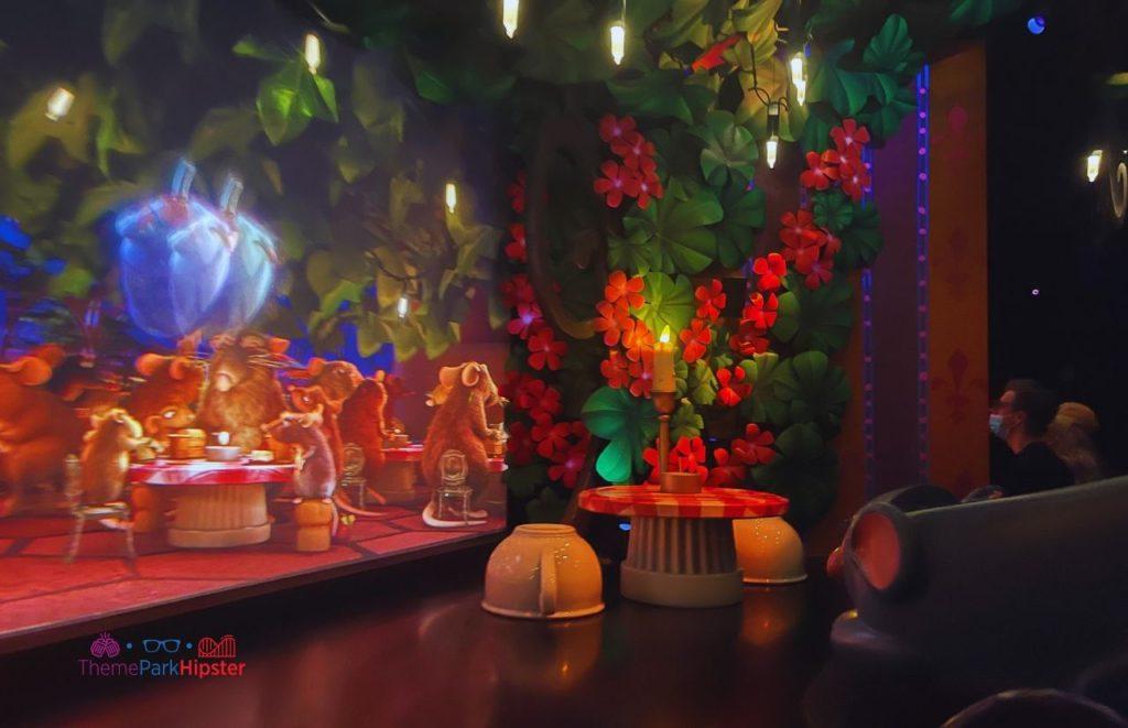 New Ratatouille Ride at Epcot Dinner Scene Disney World 50th Anniversary Celebration.