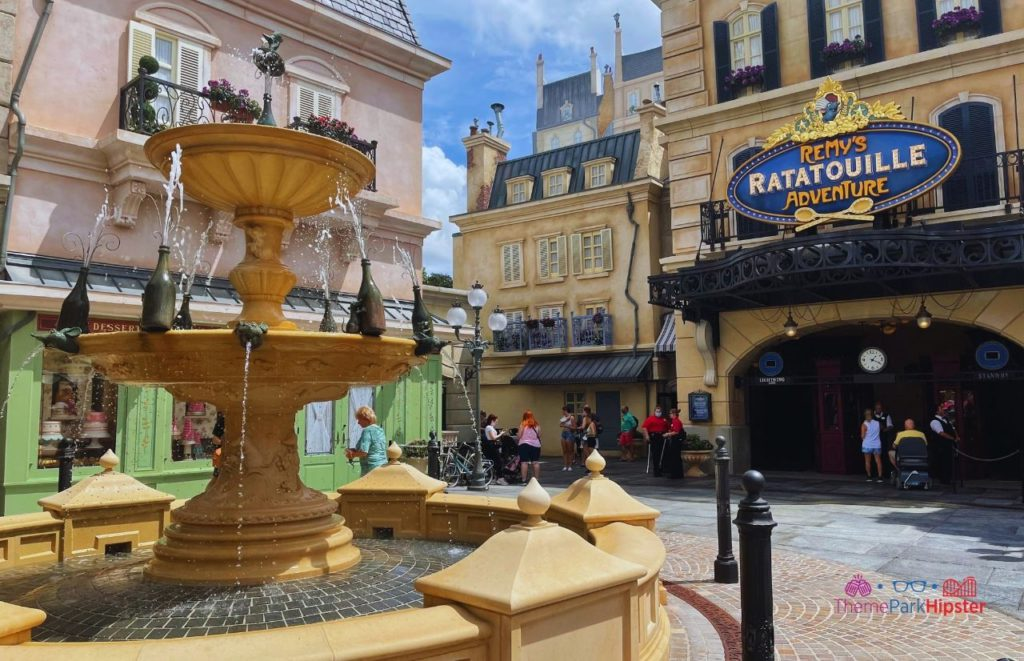 New Ratatouille Ride at Epcot Entrance in France Pavilion