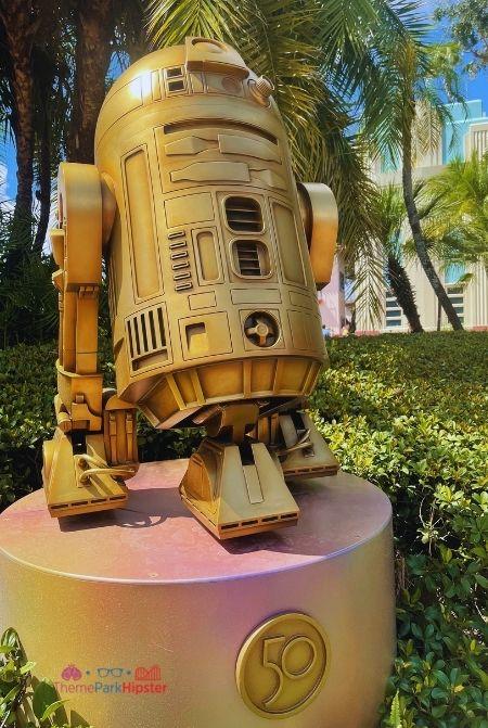 R2D2 Star Wars Gold Statue for Disney World 50th Celebration