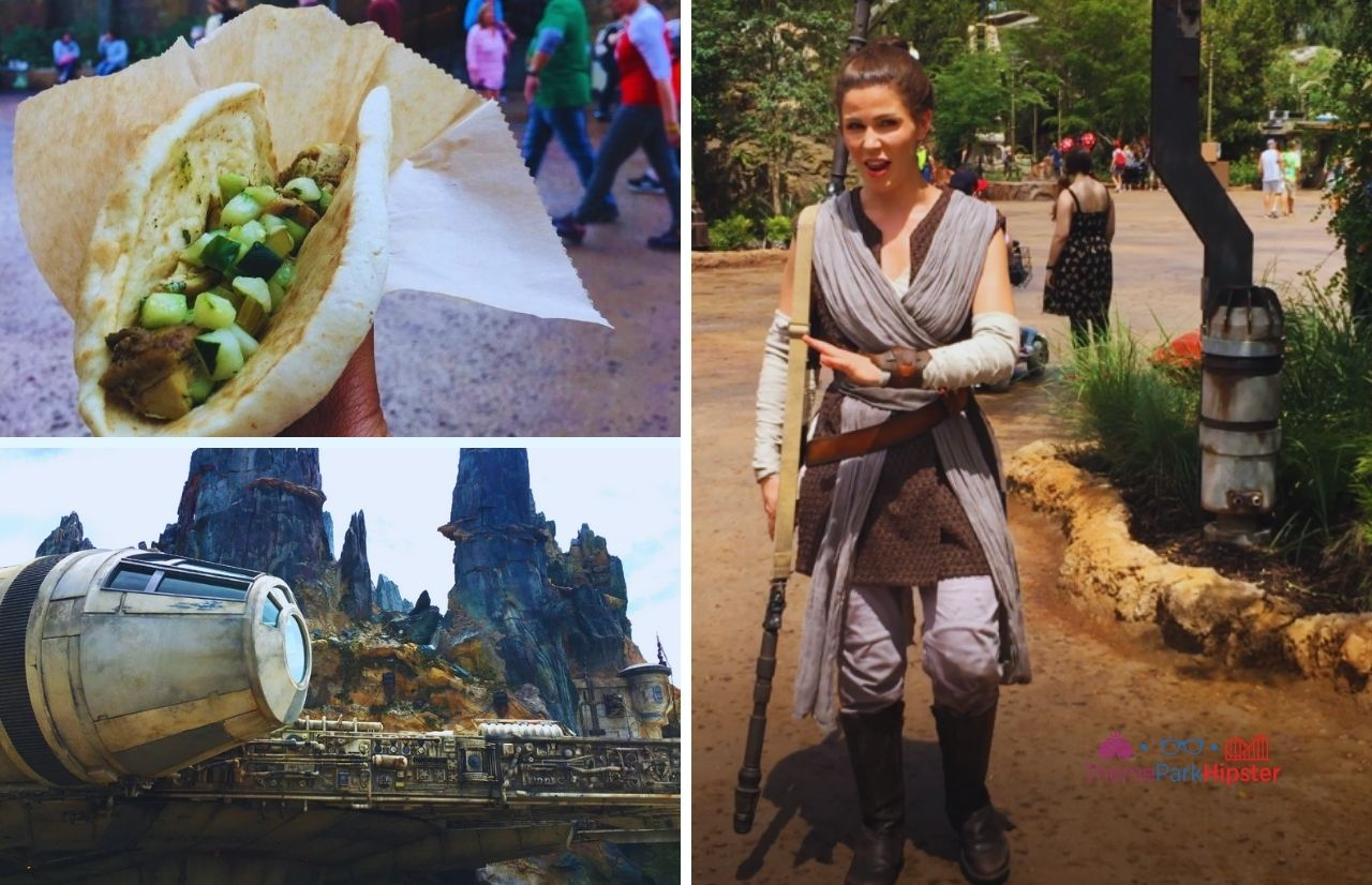 Ronto Wrap Disney Star War Land with Rey and Millennium Falcon