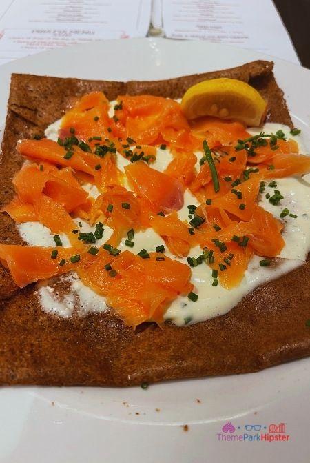 Smoked Salmon Crepe with Creamy Dill at La Creperie de Paris