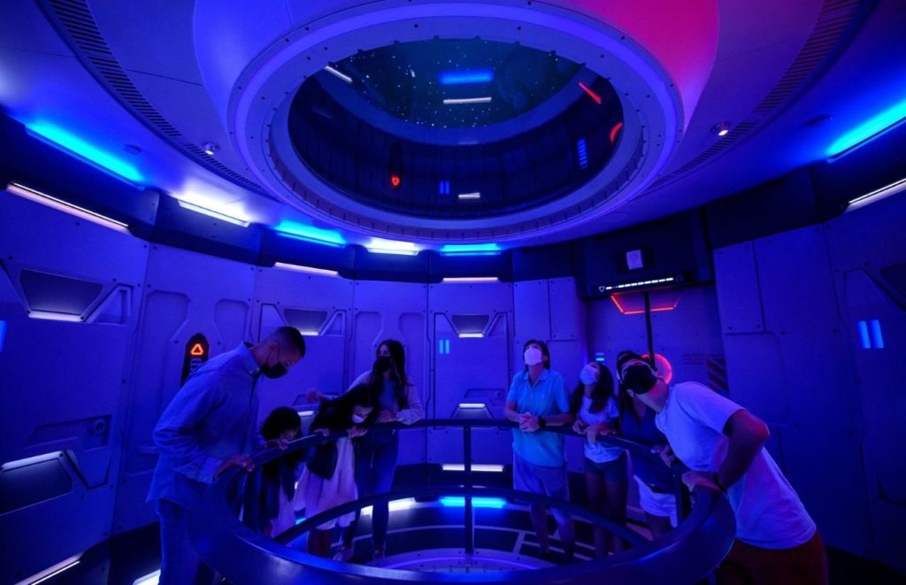 """Space 220 Restaurant offers the """"height of dining"""" at EPCOT at Walt Disney World Resort in Lake Buena Vista, Fla. Photographer Todd Anderson"""